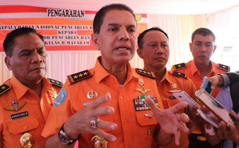 Kepala Badan SAR Nasional (Basarnas), Marsekal Madya Muhammad Syaugi