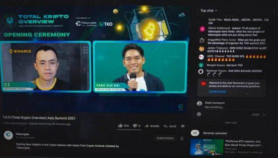 CEO Tokocrypto, Pang Xue Kai dan CEO Binance, Changpeng Zhao