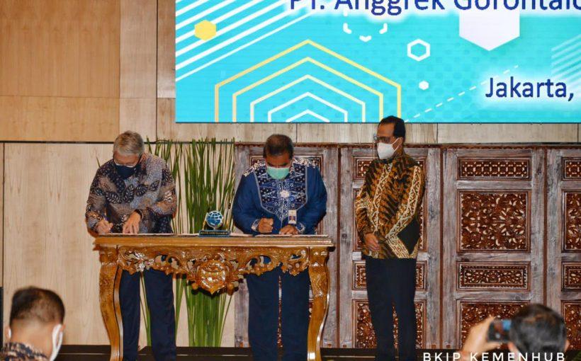 Perjanjian Kerja Sama Pembangunan Pelabuhan Anggrek di Gorontalo Melalui Skema Pendanaan KPBU Ditandatangani