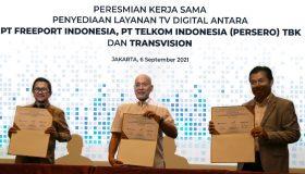 Transvision beserta PT. Telkom Indonesia